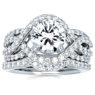 14k White Gold 2 4/5ct TDW Diamond Engagement Ring (H-I, SI1-SI2)