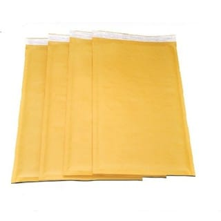 Size no. 1 Self-seal Brown Kraft Bubble Mailers 7.25 x 12 Padded Envelopes (Pack of 100)