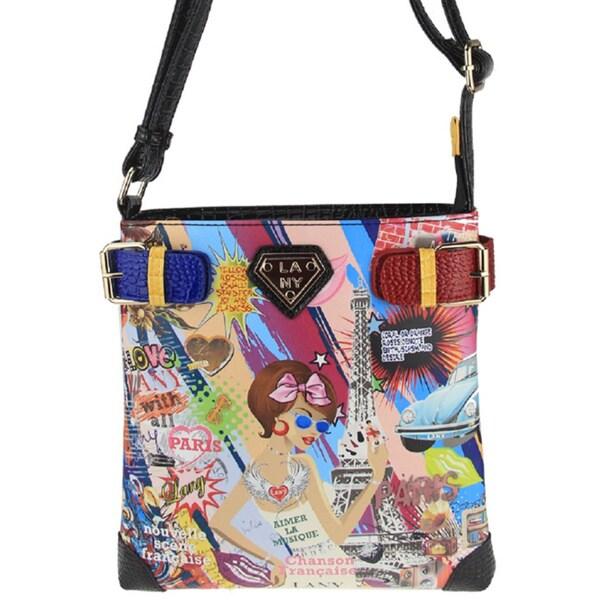 LANY 'City Chic' Print 11-Inch Crossbody Messenger Bag