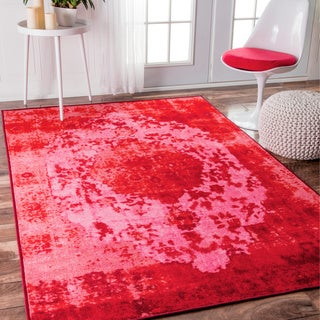 nuLOOM Traditional Vintage Inspired Talisman Overdyed Pink Rug (8' x 10')