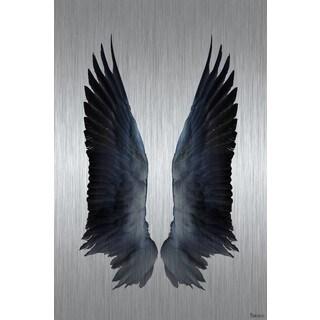 "Parvez Taj - ""Black Wings"" Painting Print on Brushed Aluminum"