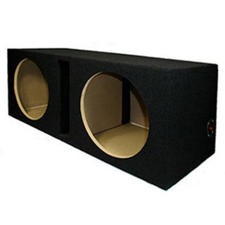 Dual Car Black Subwoofer Box Ported Automotive Enclosure for Two 12-inch Woofers