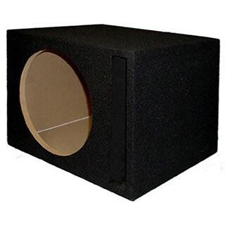 Single Car Black Subwoofer Box Ported Automotive Enclosure for 12-inch Woofer