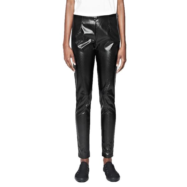 French Connection Women's Killacroc Black Faux Leather Leggings