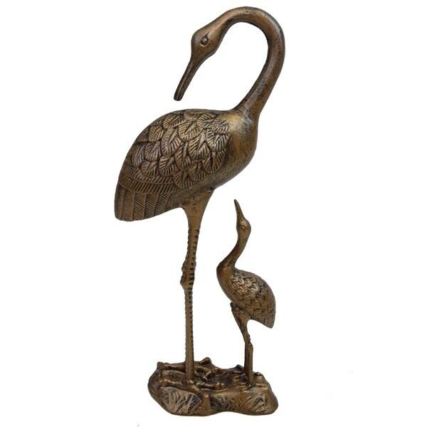 Premium Nurturing Cranes Statue