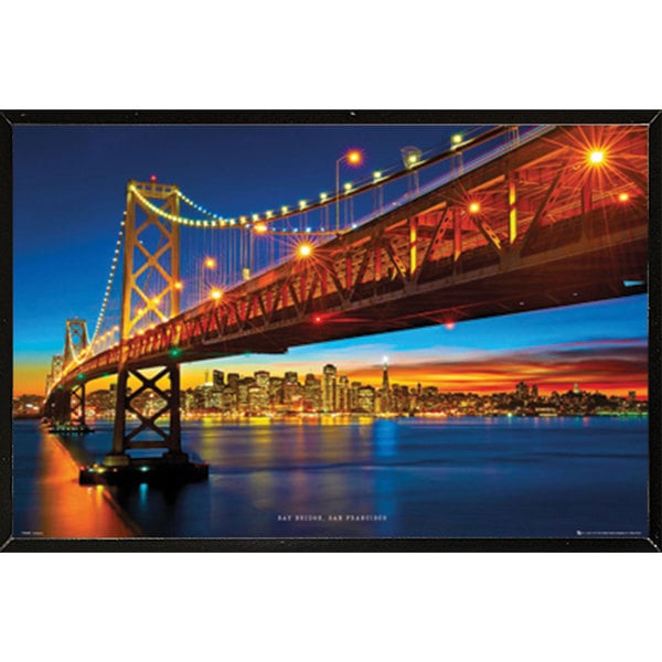 Bay Bridge San Francisco Wall Plaque (36 x 24)