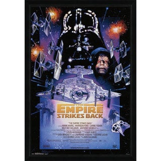 Star Wars Episode 5 Print with Traditional Black Wood Frame (22 x 34)