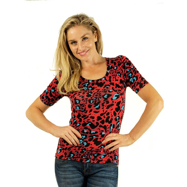 Women's Gathered Sleeve Round Neck Top