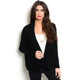 Shop the Trends Women's Long-Sleeve Knit Open Front Cardigan