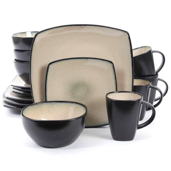 SoHo Lounge Beige Square 16-piece Dinnerware Set