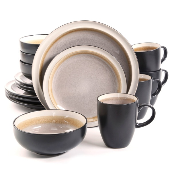 Central Ridge Taupe 16-piece Dinnerware Set