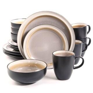 Central Ridge Taupe 16-piece Dinnerware Set