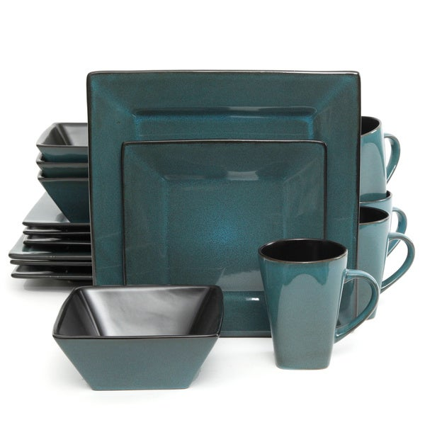 Kiesling Dinnerware Blue 16-piece Dinnerware Set