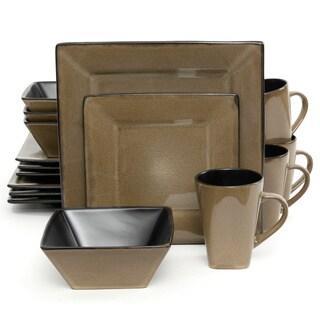 Kiesling Dinnerware Taupe 16-piece Dinnerware Set