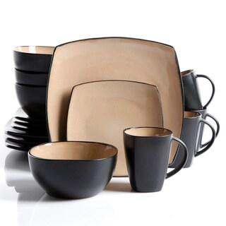 SoHoLounge Stoneware Taupe 16-piece Dinnerware Set