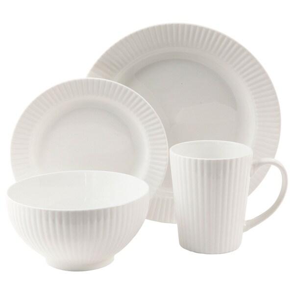 Josephine White 16-piece Dinnerware Set