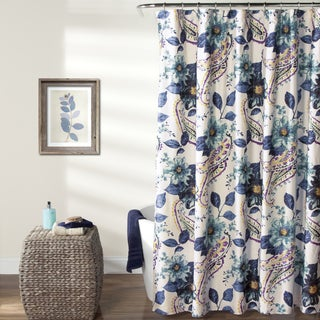 Lush Decor Floral Paisley Shower Curtain