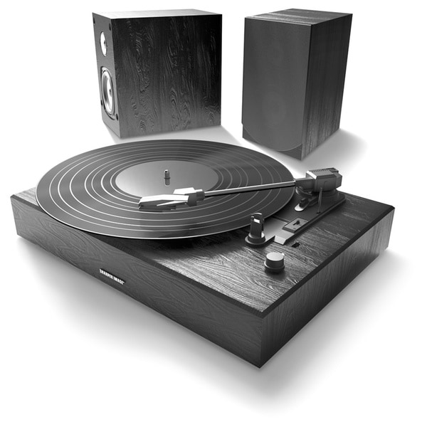 Sharper Image Bluetooth Turntable with Two Speakers