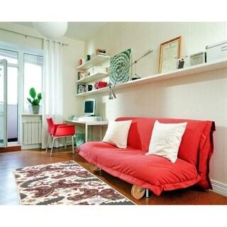 Sweet Home Cream Butterfly Design Mat Doormat Rug (1'8 x 4'11)