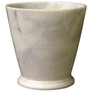 Nature Home Decor Atlantic White Marble Waste Basket