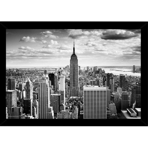 Empire State Print with Contemporary Poster Frame (36 x 24)