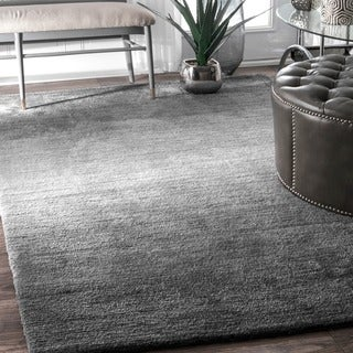 nuLOOM Handmade Modern Solid Ombre Grey Rug (4' x 6')