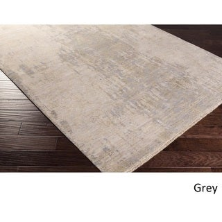 Hand-Knotted Fram Wool/Silk Rug (6' x 9')