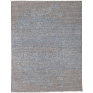 Hand-Knotted Gail Wool/Silk Rug (6' x 9')
