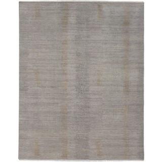 Hand-Knotted Gavin Wool/Silk Rug (6' x 9')