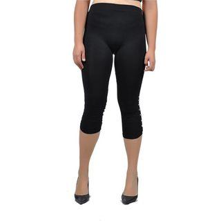 Soho Junior Gem Studded Capri Leggings Plus Size