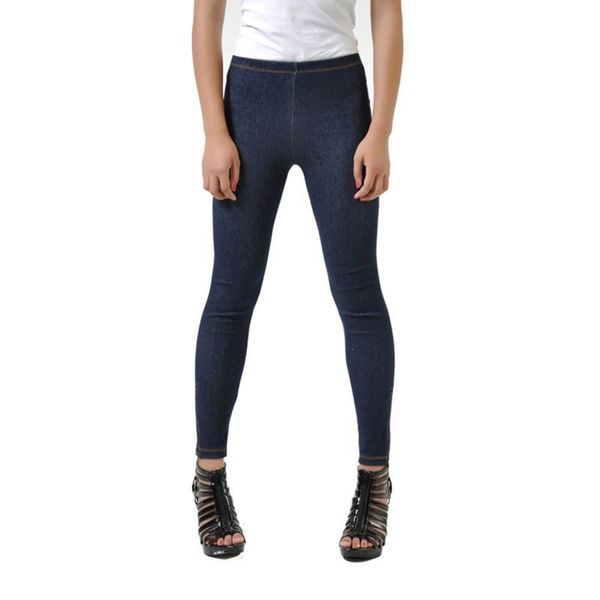 Soho Blue Junior Seamless Knitted Jean Jegging Legging