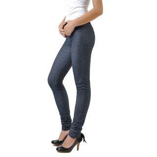 Soho Blue Junior Seamless Knitted Jean Legging