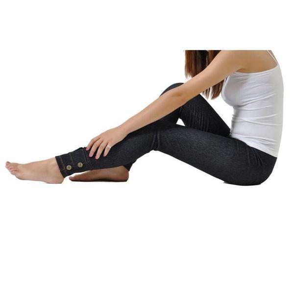 Soho Black Junior Seamless Knitted Jean Jegging Legging