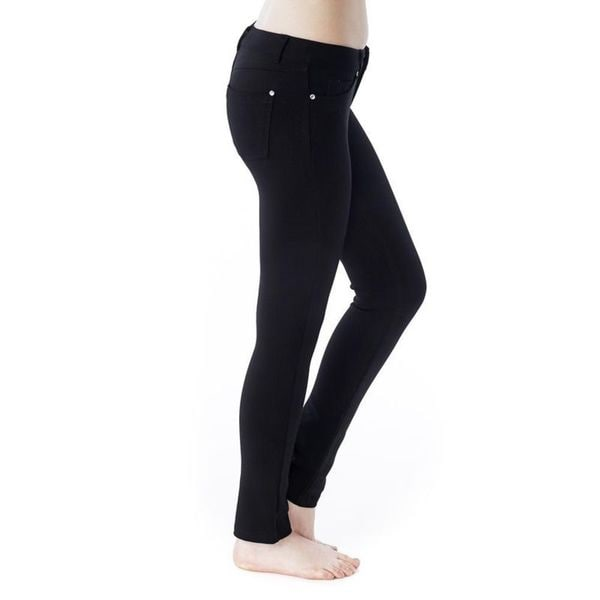 Soho Black Junior Skinny Ponte Pants