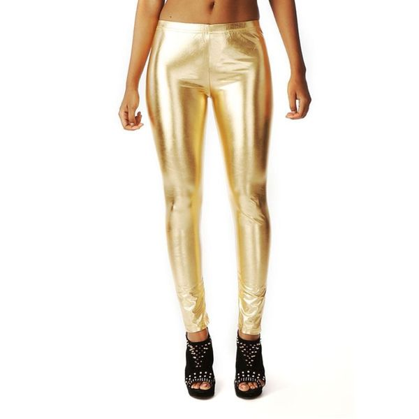 Soho Gold Junior Shiny Metallic Liquid Leggings