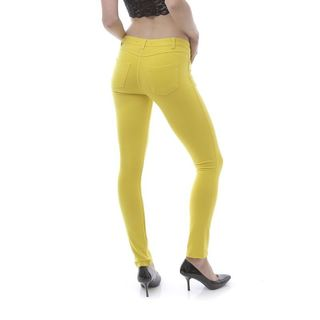 Soho Yellow Junior Moleton Skinny French Terry Pants