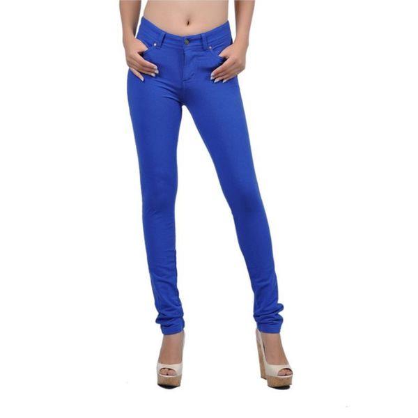 Soho Royal Blue Junior Moleton Skinny French Terry Pants