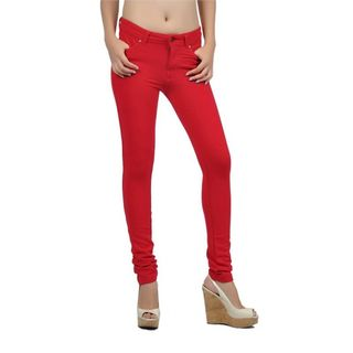 Soho Red Junior Moleton Skinny French Terry Pants