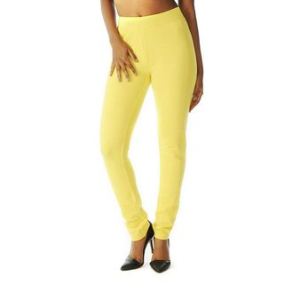 Soho Yellow Junior French Terry Skinny Jegging Pants