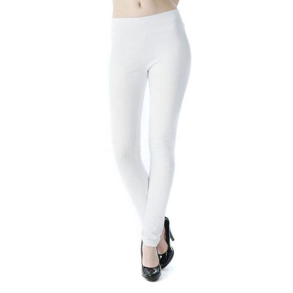 Soho White Junior French Terry Skinny Jegging Pants