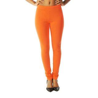 Soho Orange Junior French Terry Skinny Jegging Pants