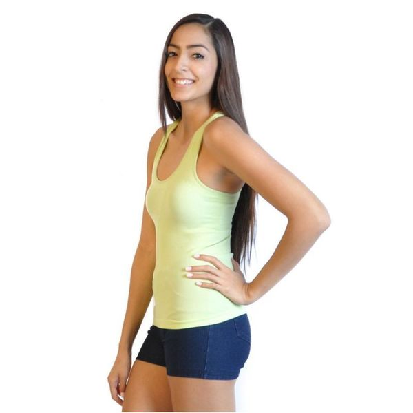 Soho Junior Rib Solid Racerback Tank Top 16965520
