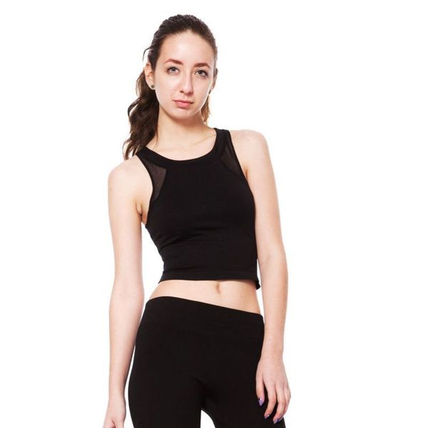 Soho Junior Mesh Inset Crop Top