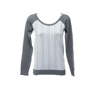 Soho Junior Texture Long Sleeve Top