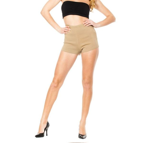 Soho Junior Khaki Stretchy High Waisted Millennium Shorts