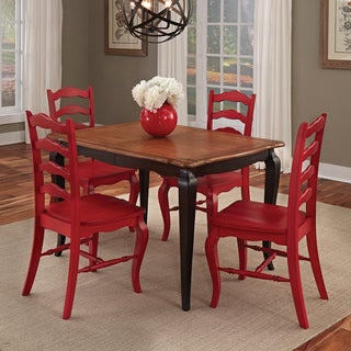 Home Styles French Countryside black and oak 5-piece Dining Set