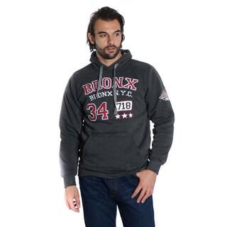 Men's Pull Over Fleece Double Hood Bronx Embroidery Sweatshirt