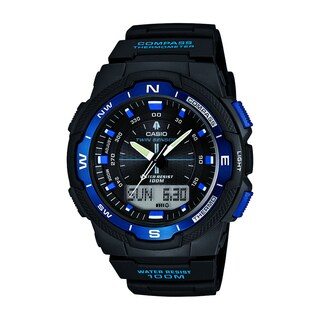 Casio Men's SGW500H-2BV Resin Analog Digital Twin Sensor Multi-Function Watch