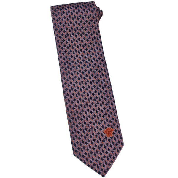 Versace 100-percent Italian Silk Burnt Orange Loop Neck Tie