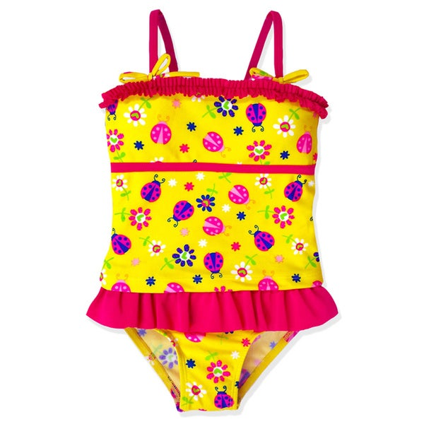 Jump'N Splash Girl's Ladybug Skirt Tankini Swimsuit